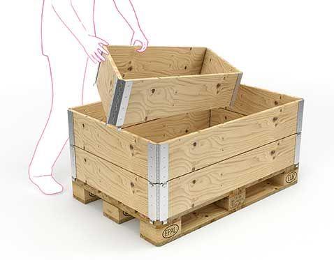 Holzbox Aufsatzrahmen 800 x 600 mm