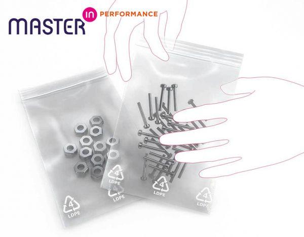 Master'in Performance Druckverschlussbeutel 400x300mm